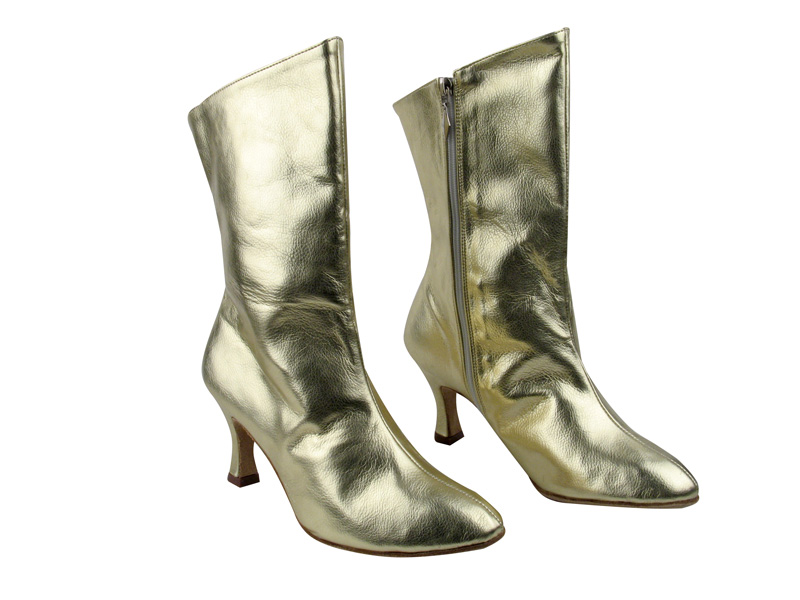 VFBoot PP205A Ankle Bootie Gold Leather with 2.75