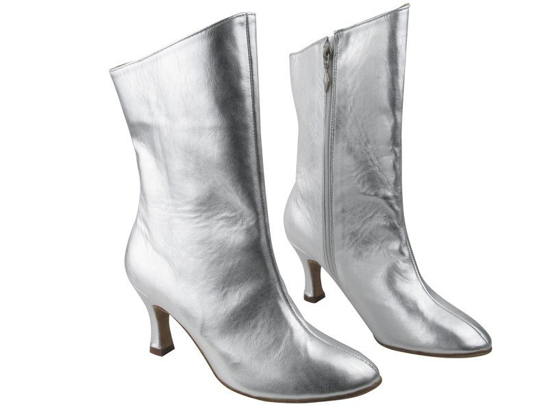 VFBoot PP205A Ankle Bootie Silver Leather with 2.75