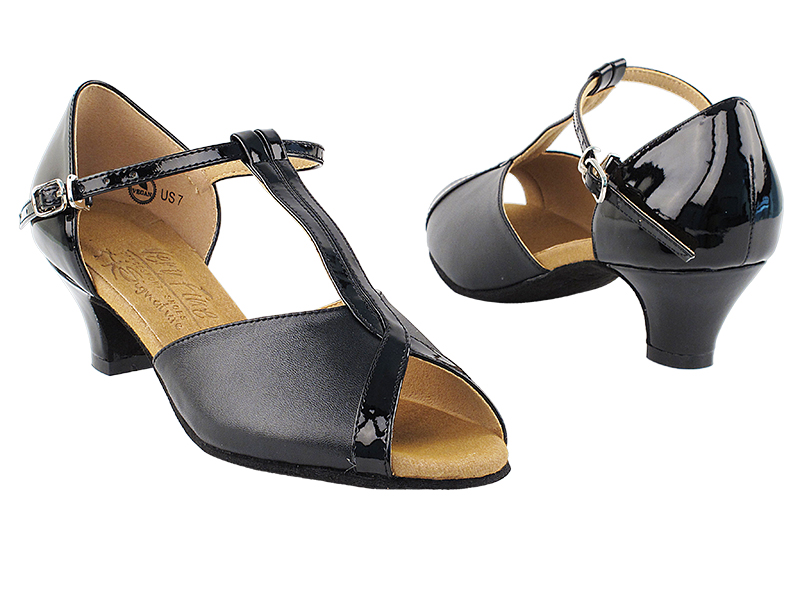 S2804 Black_Black Patent Leather with 1.2
