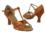 S9235 Copper  Tan Satin