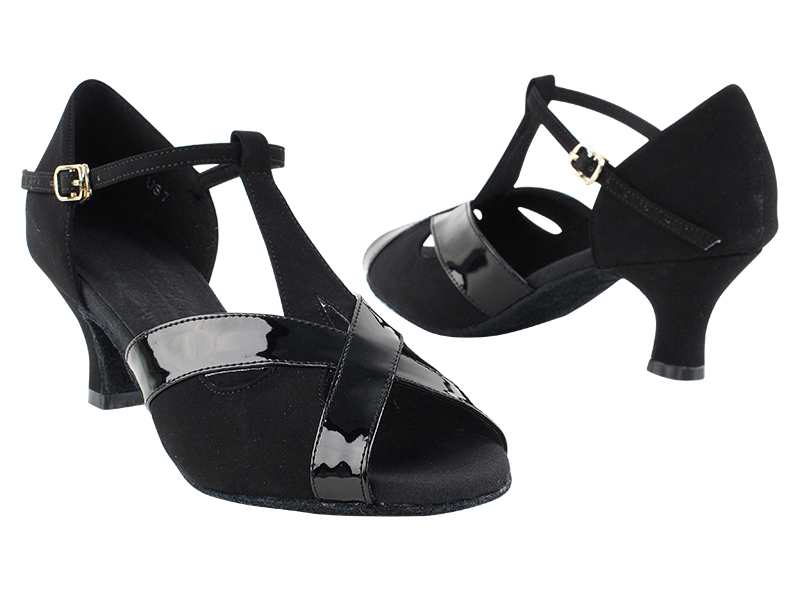 S9275 Black Nubuck & Black Trim & Cuban Heel