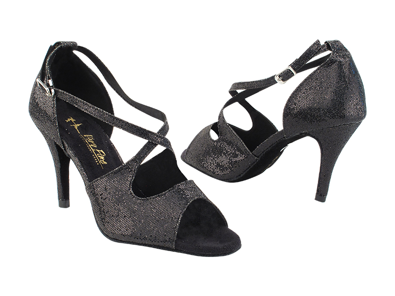 3031LEDSS Black Scale with 3 inch Stiletto Heel (428) in the photo