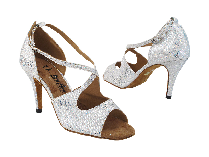 3031LEDSS Silver Scale with 3 inch Stiletto Heel (428) in the photo