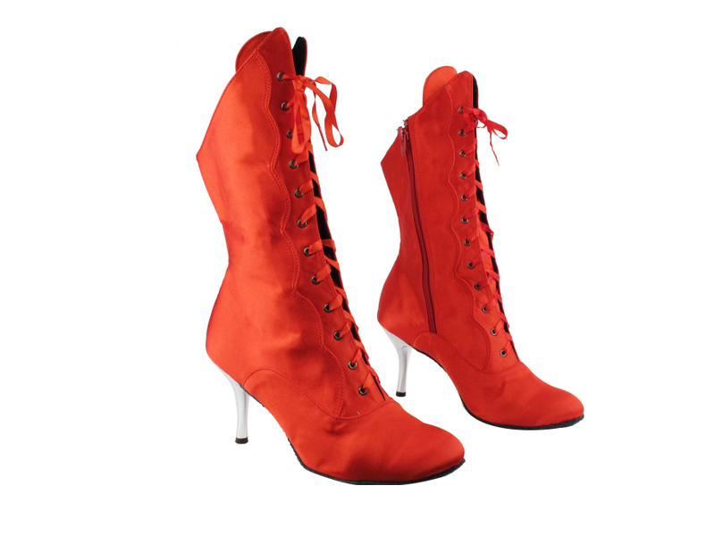 VFBoot SERACanCan Red Satin with Silver 3