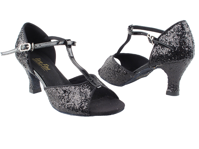 5004 Black Sparkle_Whole Shoes