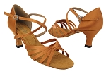 6005 236 Dark Tan Satin_X-Strap Arch