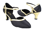 9621 38 Black Satin_62 Gold PU Trim