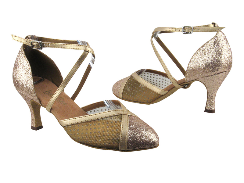 9622 125 Gold Stardust_108 Mesh_57 Light Gold Leather Trim