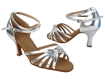 C6005 214 Silver Leather_53 Silver Scale Heel