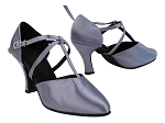 C9691 180 Grey Satin with T-Strap