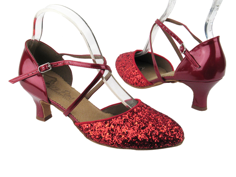 C9691 Red Sparkle (F) & Red Patent (B)