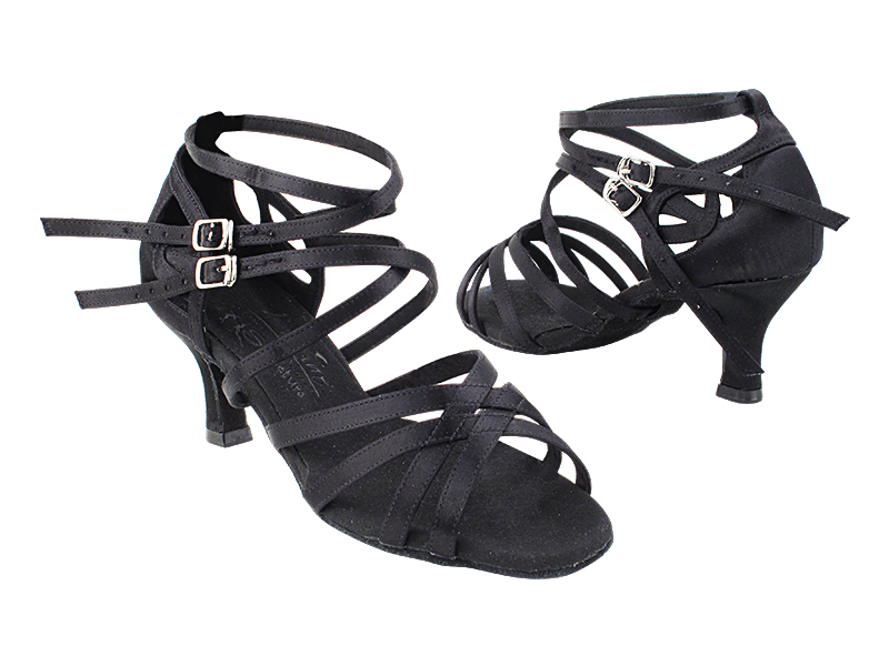S9206 154 Black Satin_S1003CC Back_Double X Straps with 2.5
