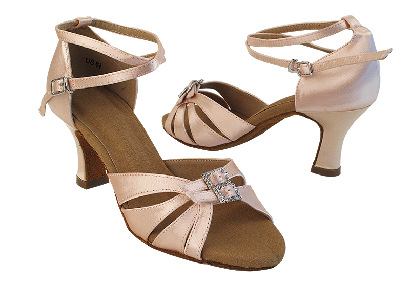 S92307 215 Flesh Satin_X-Strap Ankle with Loop