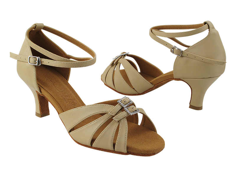 SERA1131 Tan Leather_X-Strap Ankle with Loop with 2.5