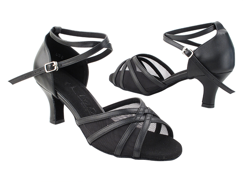 SERA1605 Black Leather_X-Strap Ankle with Loop