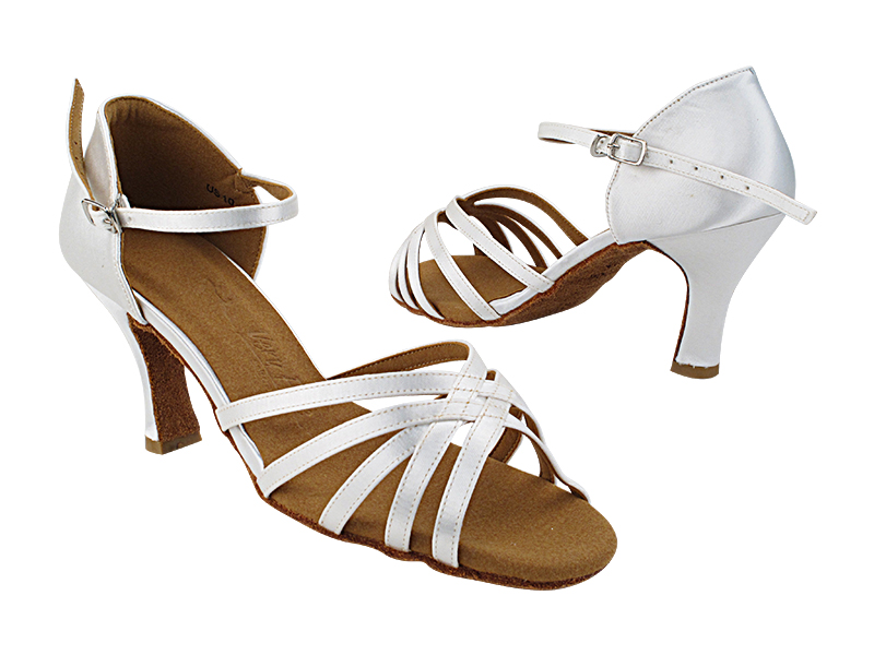 SERA2613 White Satin_Ankle Strap Fixed with  3