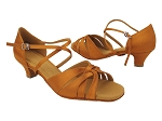 SERA6721 210 Dark Tan Satin_X-Strap Arch