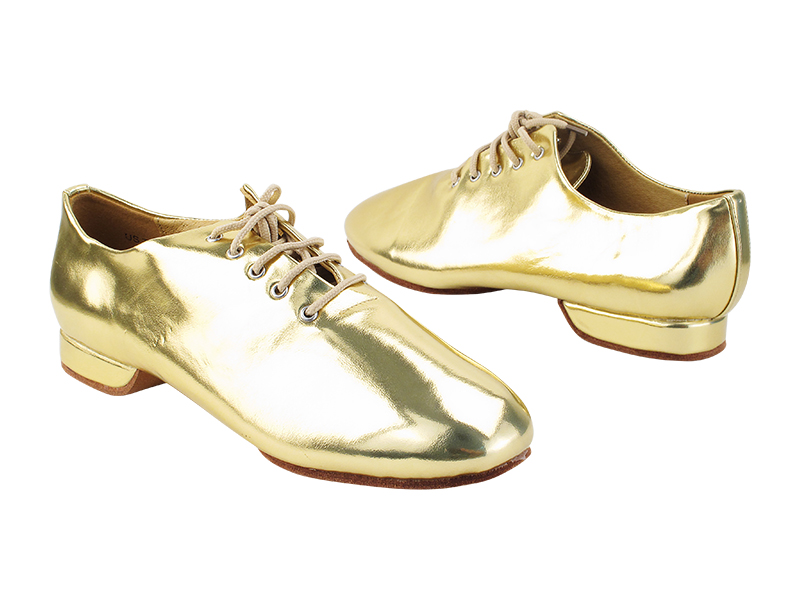 SERAJazz01S Gold PU with flat EVA heel in the photo