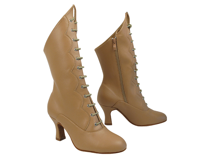 VFBoot SERACanCan Beige Brown Leather with 2.5 inch Heel (Heel Code PG-11046) in the photo