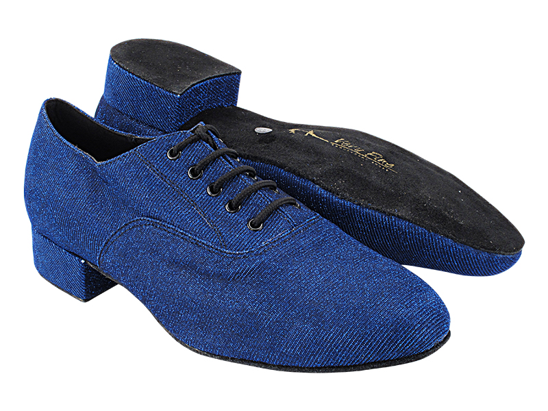 919101 67 Glitter Dark Blue Satin with Men 1