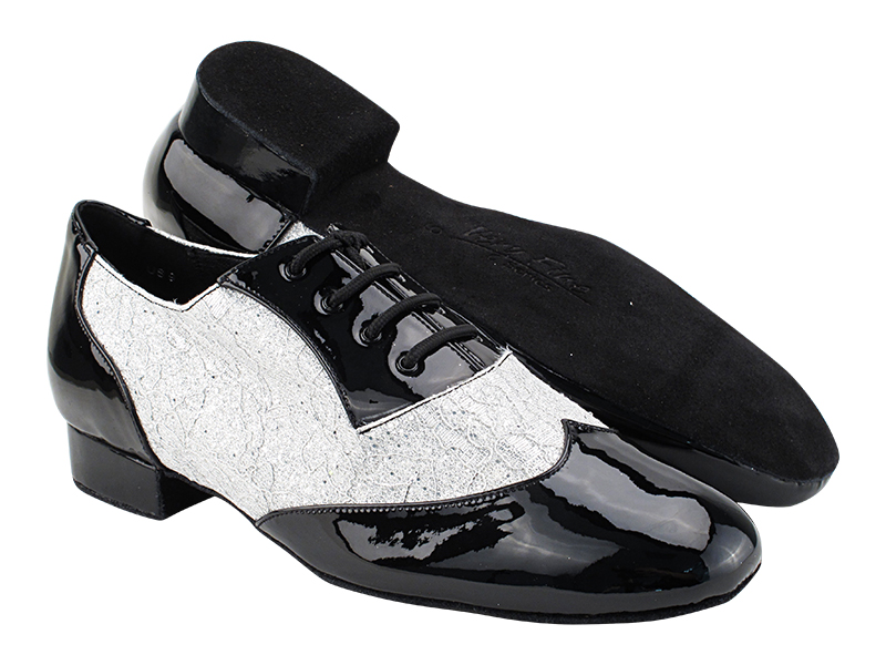 CM100101 Black Patent_B_F_1 Lace Silver Scale_M with Men 1