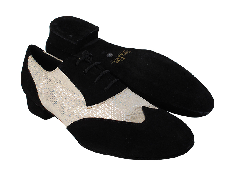 M100101 244 Black Suede_F_B_323 White Diamond Velvet_M with 1