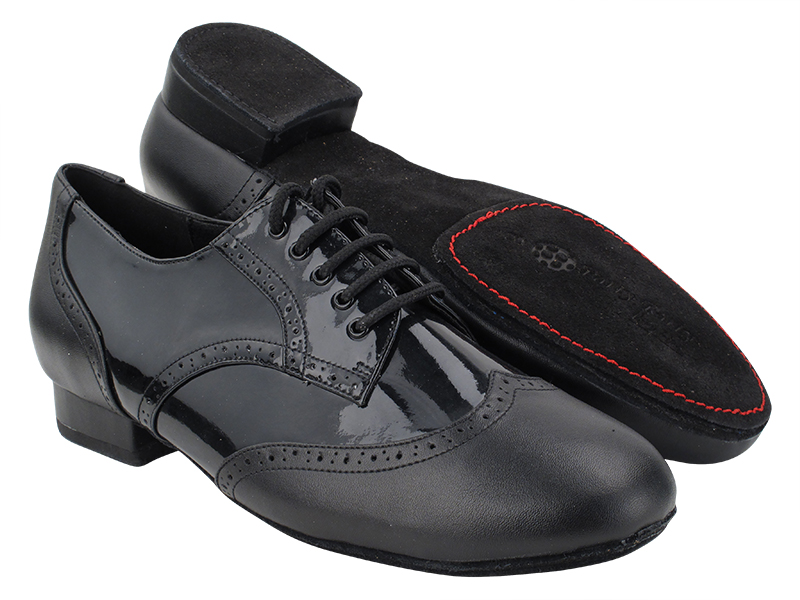 PP301DB Black Leather_F_B_H_Black Patent_M