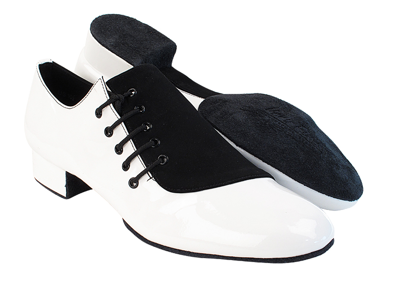 S2519 White Patent_73 Black Nubuck with 1