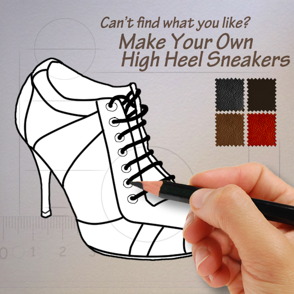 Make Your Own Ladies Heel Sneakers