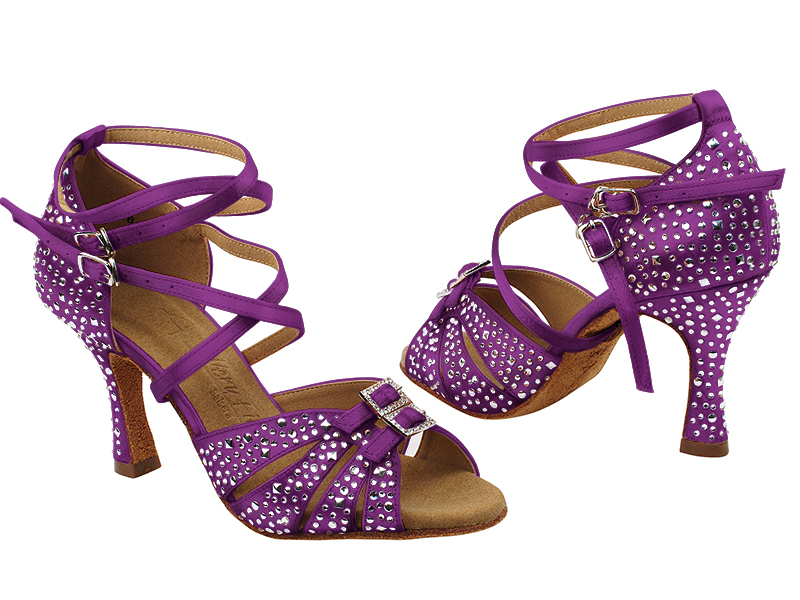 S92307MSC 119 Purple Satin with (YQG) 3 inch Heel in the photo