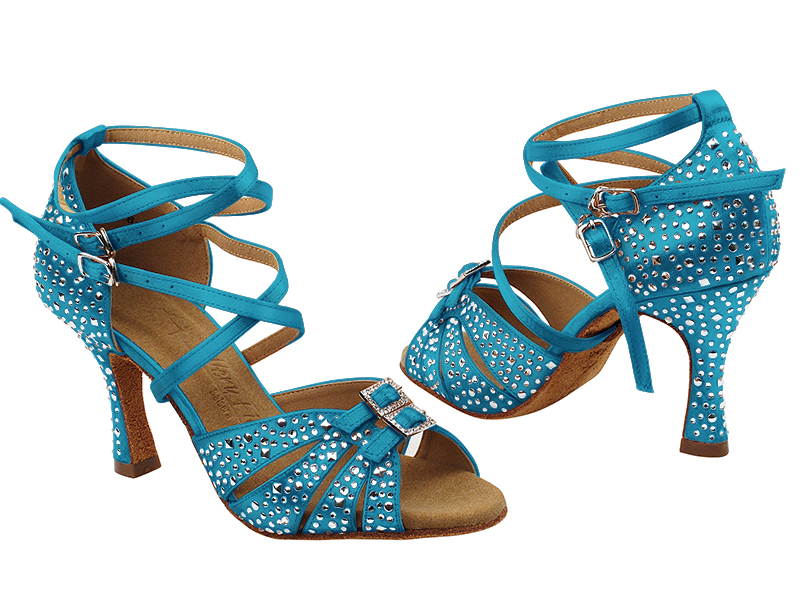 S92307MSC 120 Blue Satin with (YQG) 3 inch Heel in the photo