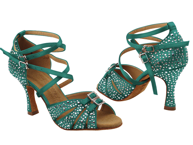 S92307MSC 123 Teal Satin with (YQG) 3 inch Heel in the photo
