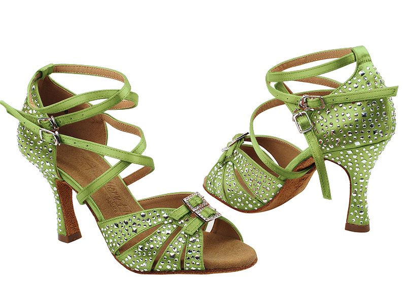 S92307MSC 137 Green Satin with (YQG) 3 inch Heel in the photo