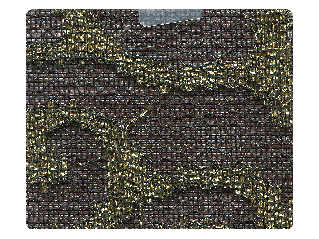 203 Lace Black Mesh Fabric Swatch
