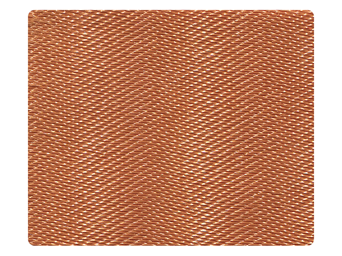 231 Dark Tan Satin Fabric Swatch