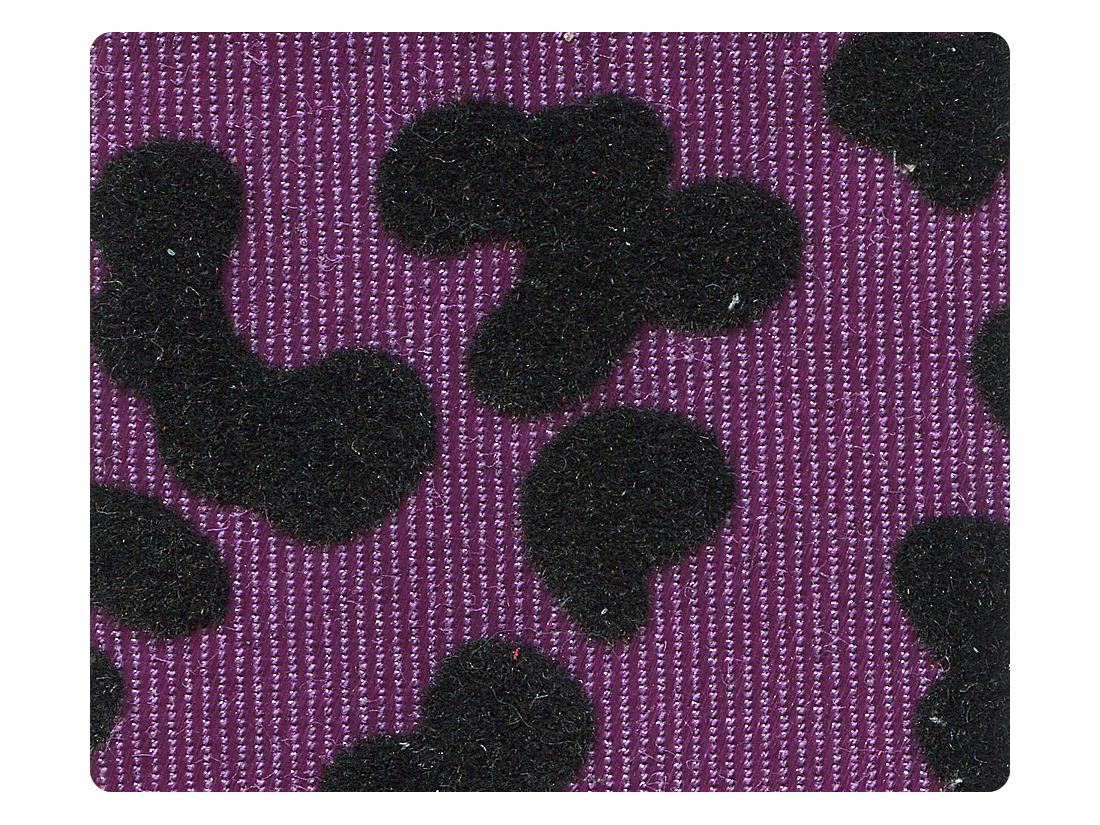 249 Purple Leopard Fabric Swatch