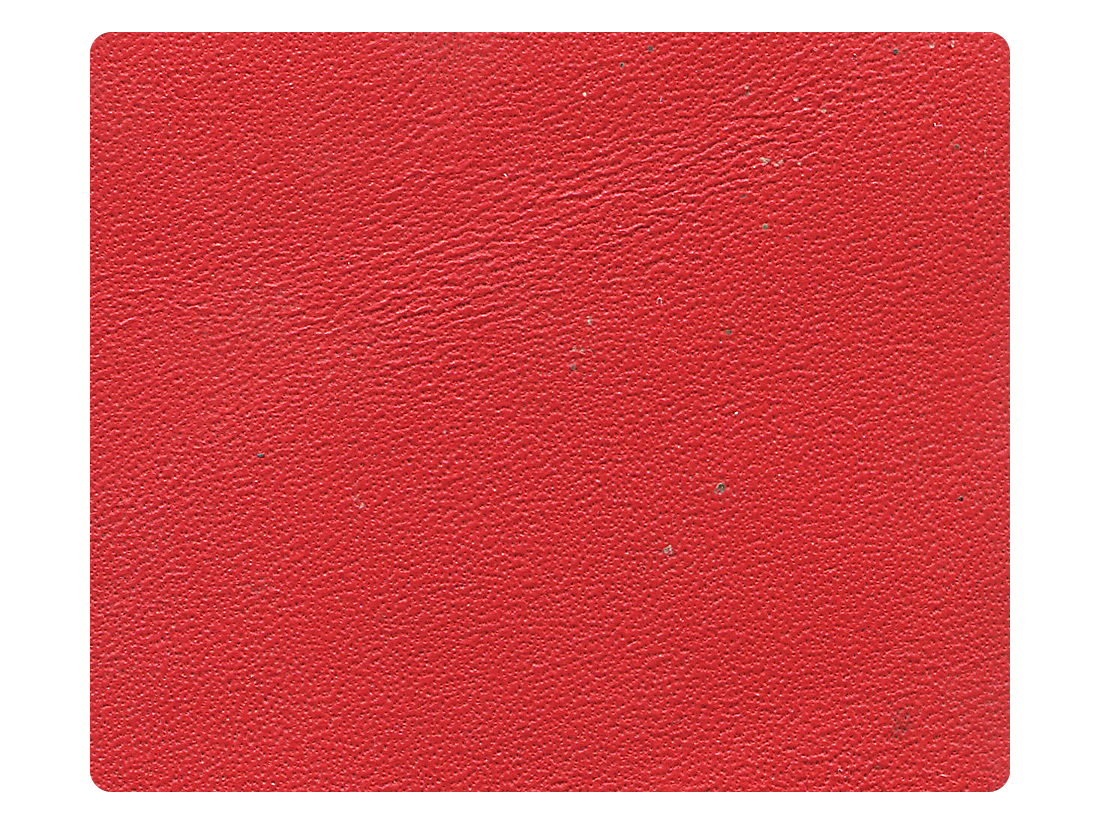 266 Red Leather Fabric Swatch