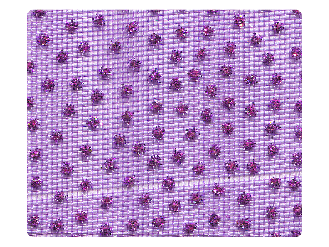305 Purple Mesh Fabric Swatch