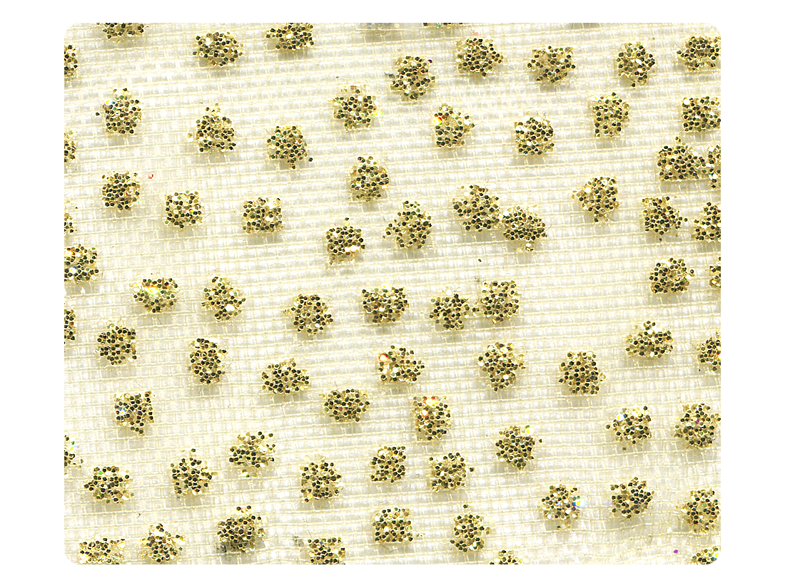 308 Gold Mesh Fabric Swatch