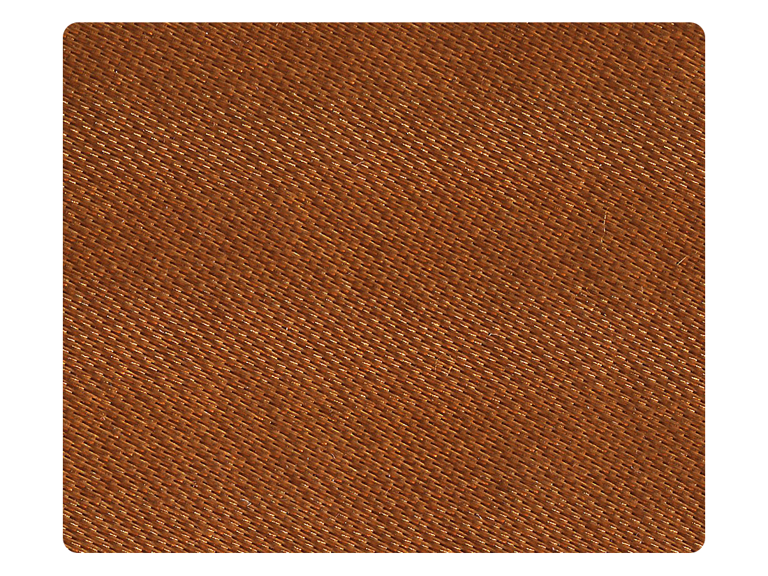 130 Dark Tan Fine Satin Fabric Swatch