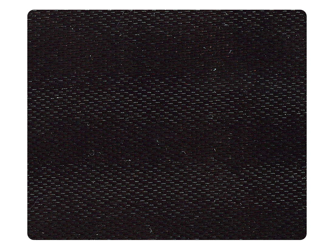 140 Black Fine Satin Fabric Swatch