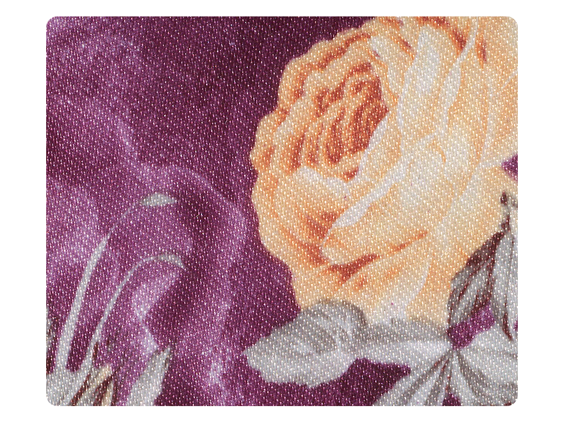 152 Purple_Champagne Flower Satin Fabric Swatch