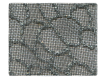 160 Silver Glitter Black Mesh -Stiletto