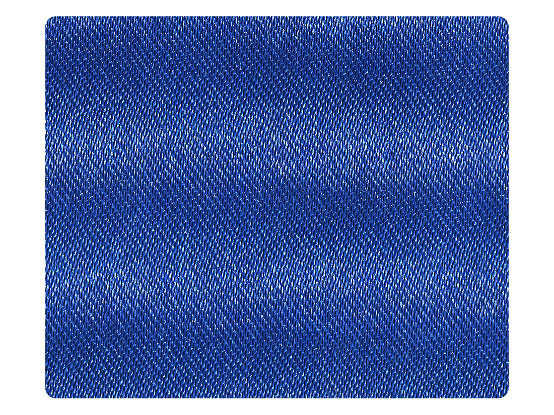 84 Gem Blue Satin Fabric Swatch
