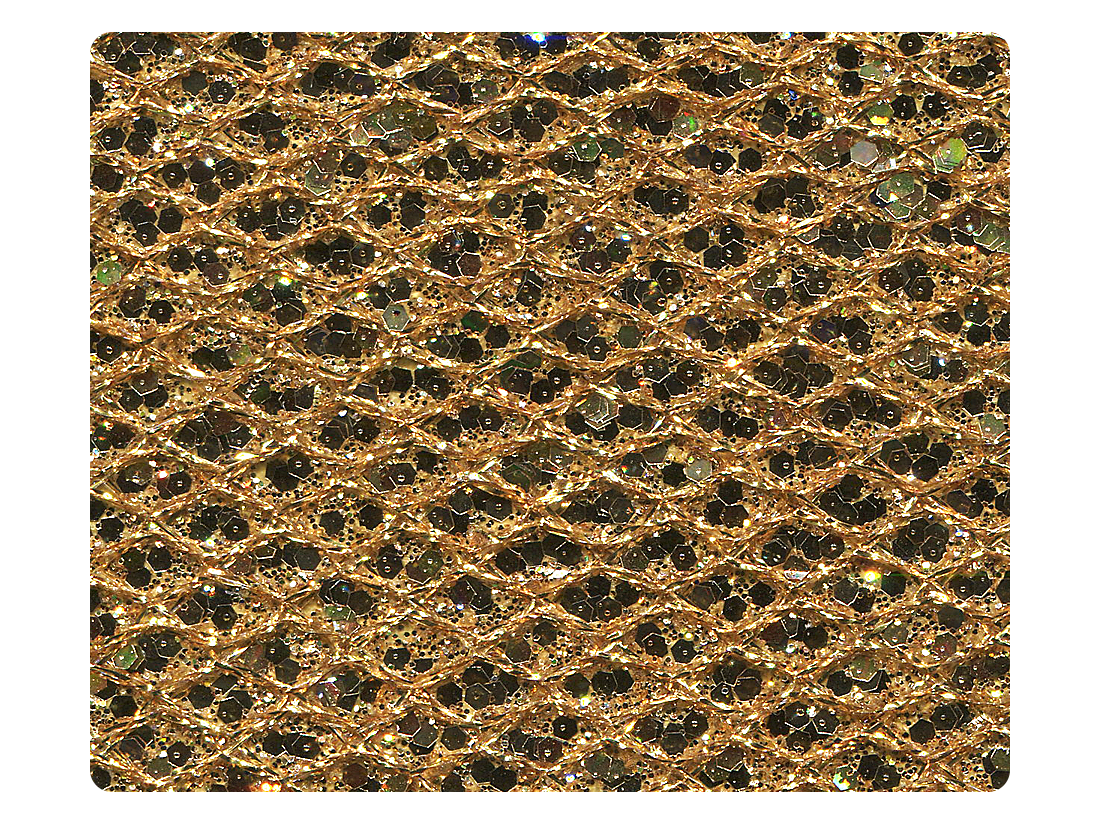 130 Gold Sparklenet Fabric Swatch
