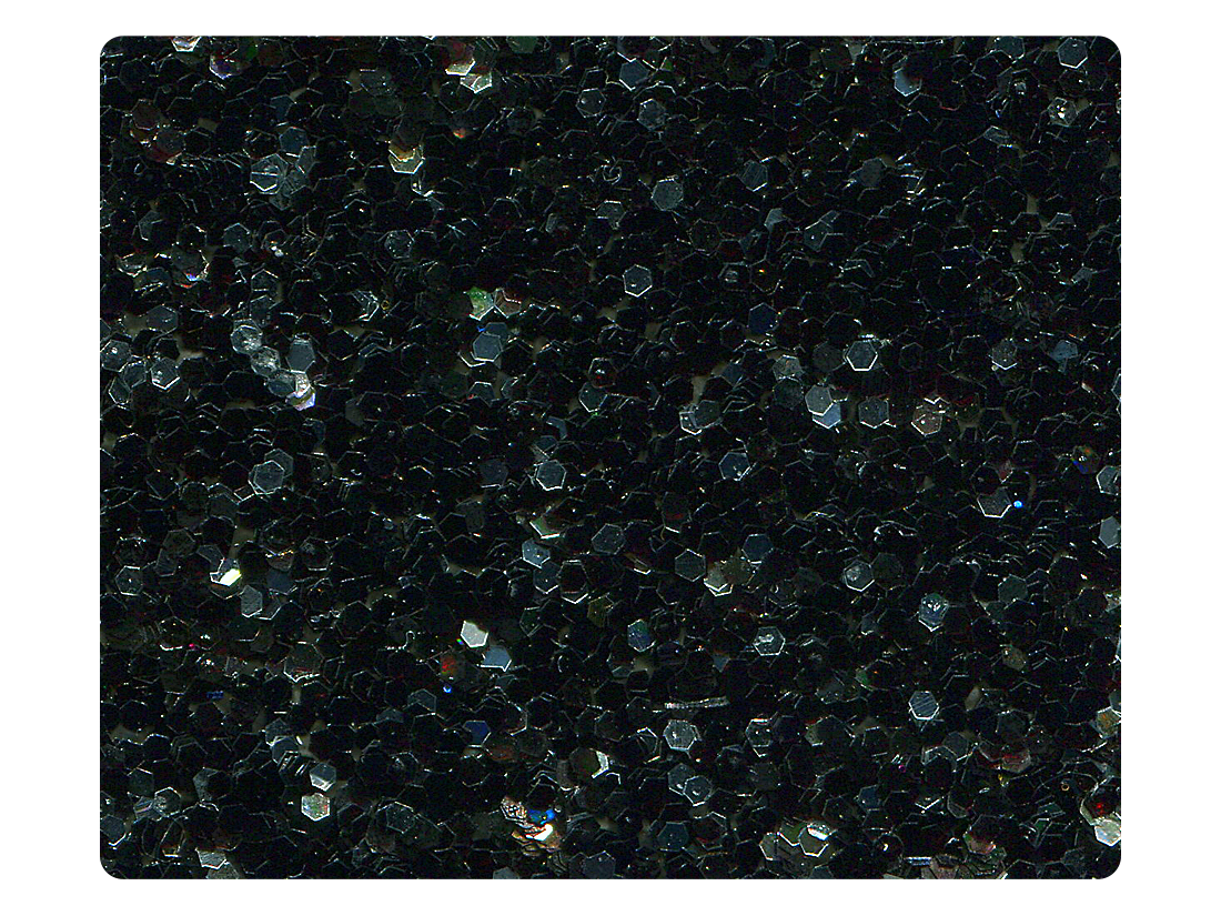 147 Black & Silver Sparkle Fabric Swatch