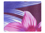 198 Blue_Purple Flower Satin