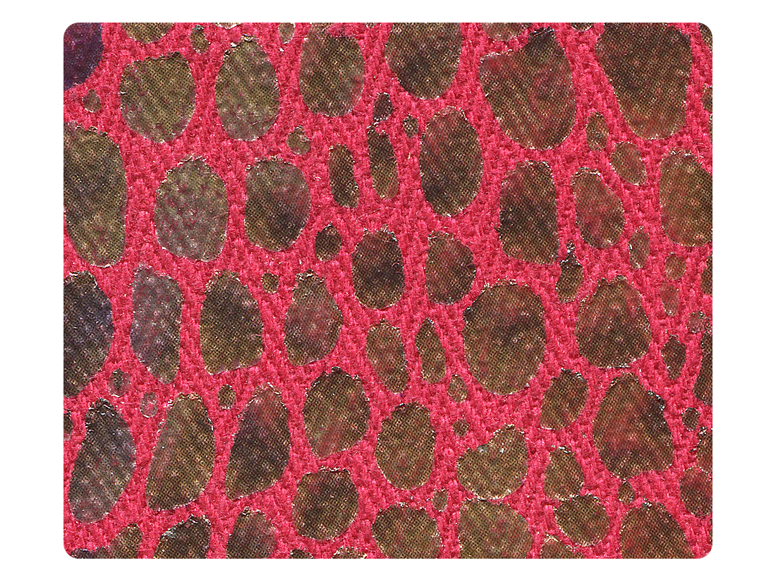 238 Red Print Fabric Swatch