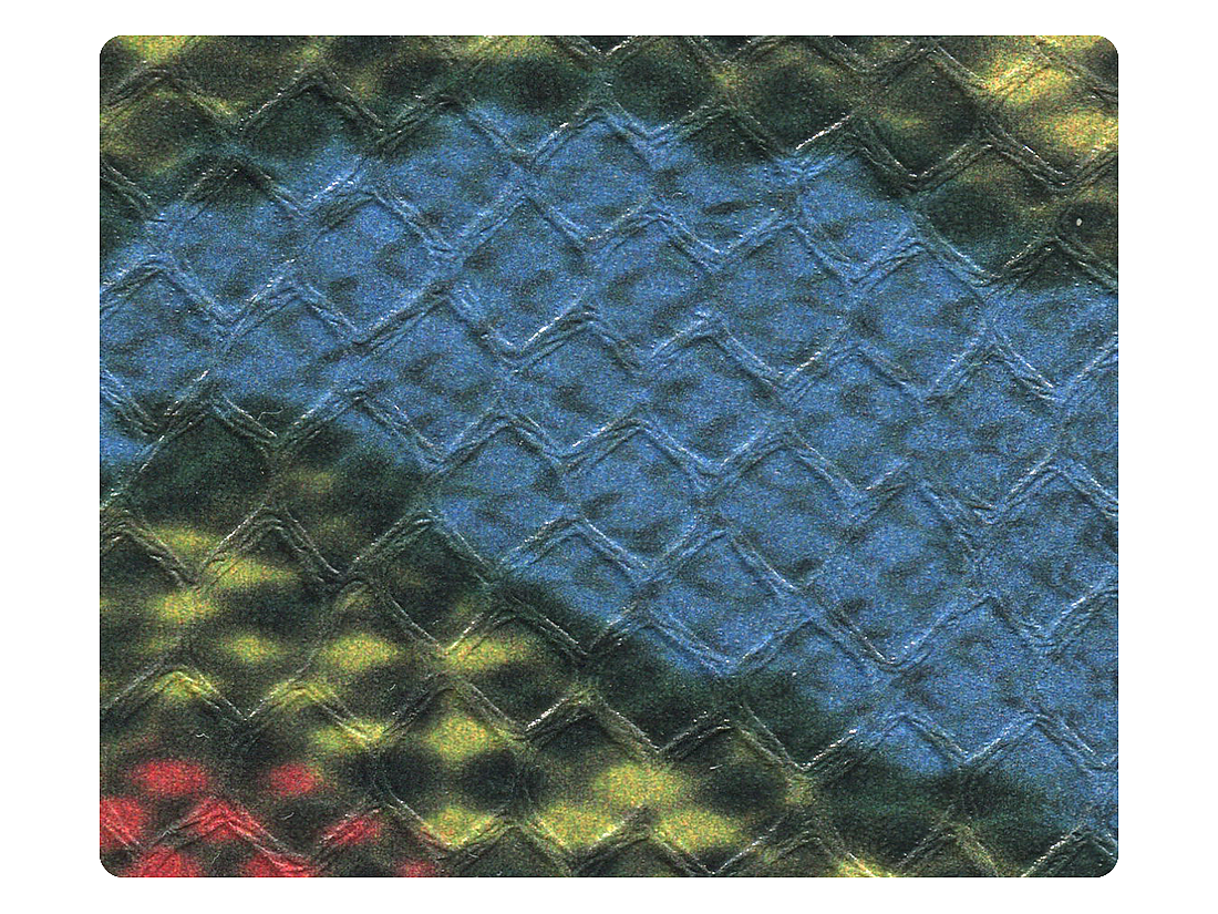 261 Blue & Red Snake PU Fabric Swatch