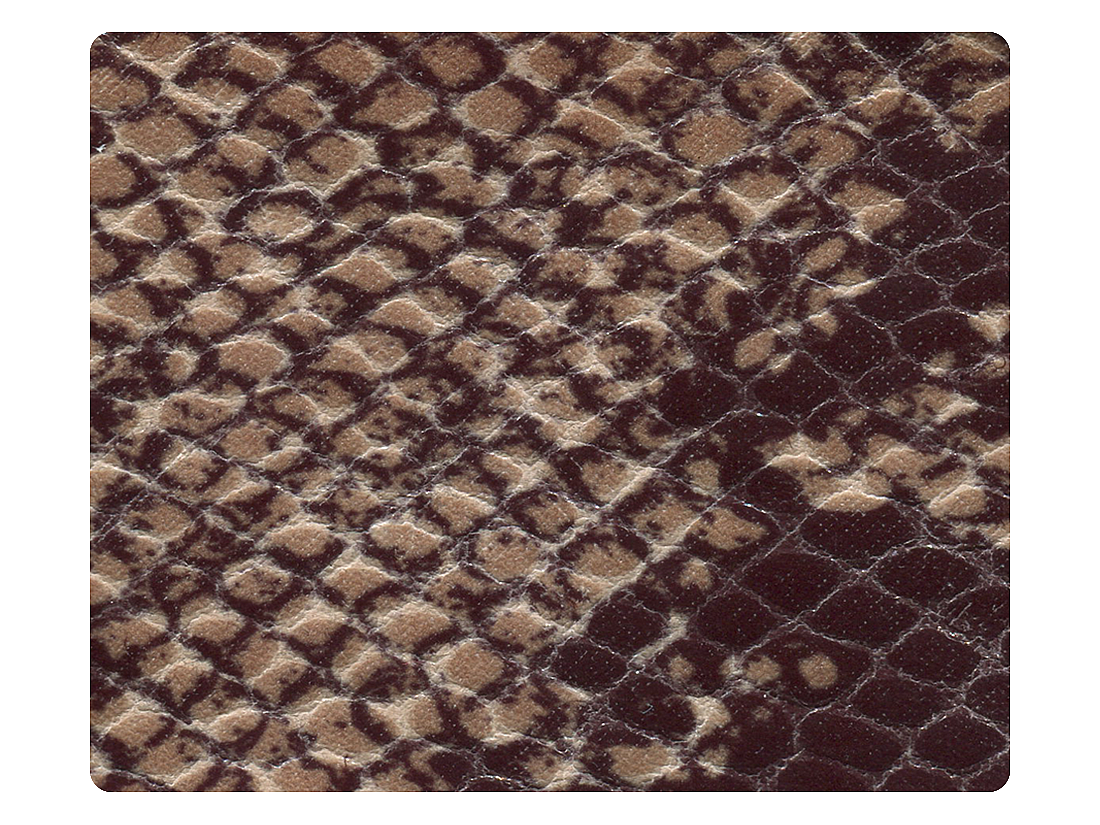 271 Brown Snake PU Fabric Swatch